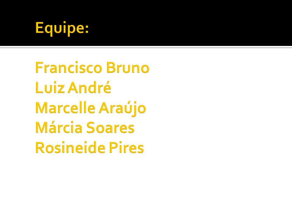 Equipe: Francisco Bruno Luiz André Marcelle Araújo Márcia Soares Rosineide Pires