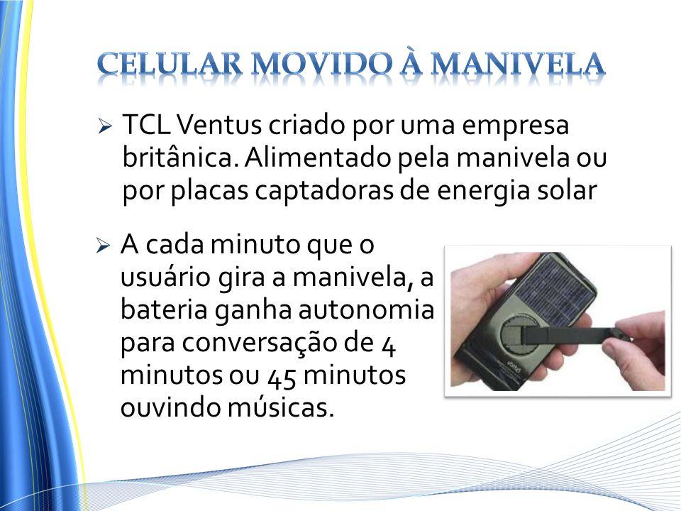 Celular movido à manivela