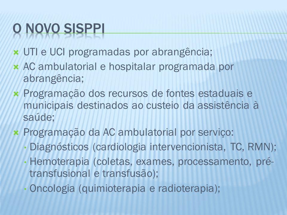 O NOVO SISPPI UTI e UCI programadas por abrangência;