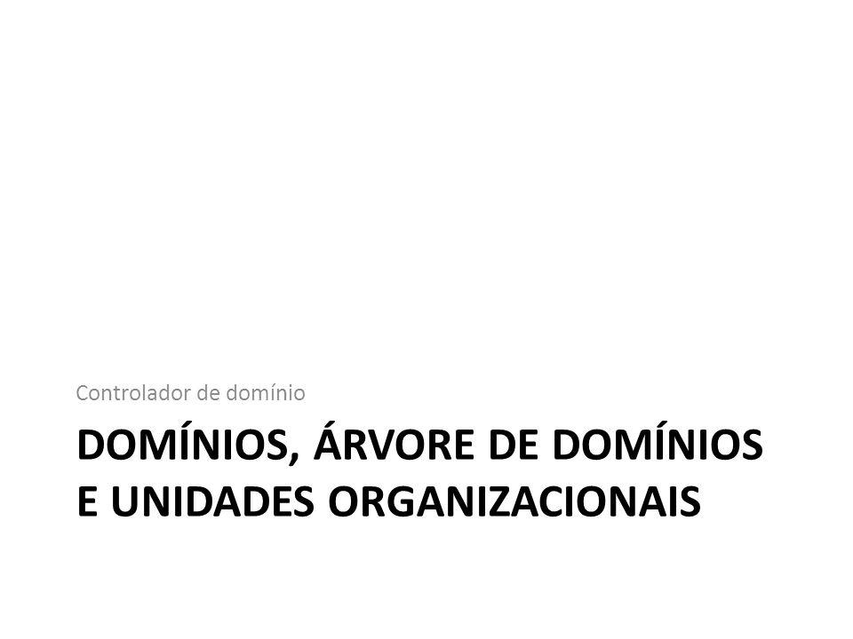 Domínios, Árvore de domínios e Unidades Organizacionais