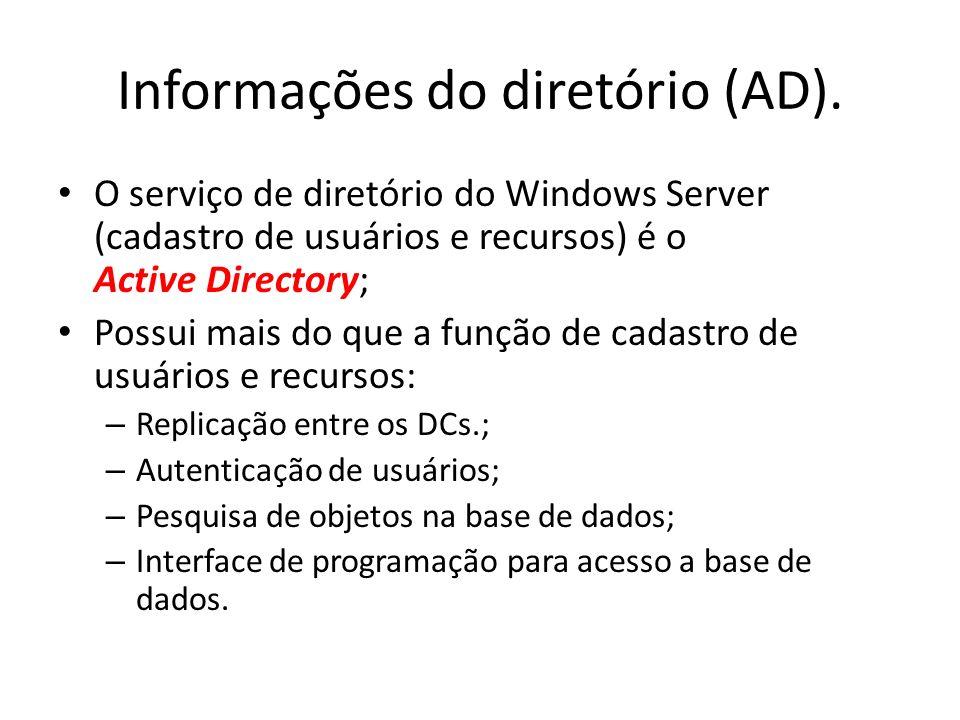 Informações do diretório (AD).