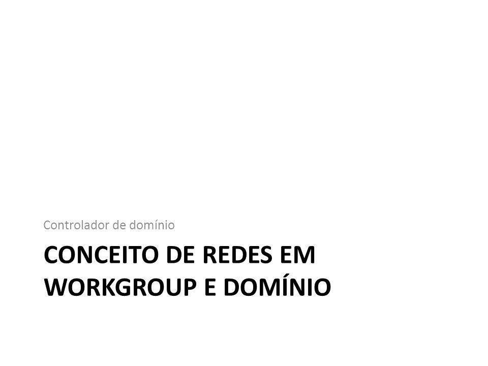 Conceito de redes em workgroup e domínio