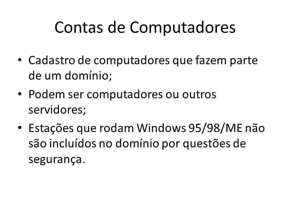 Contas de Computadores