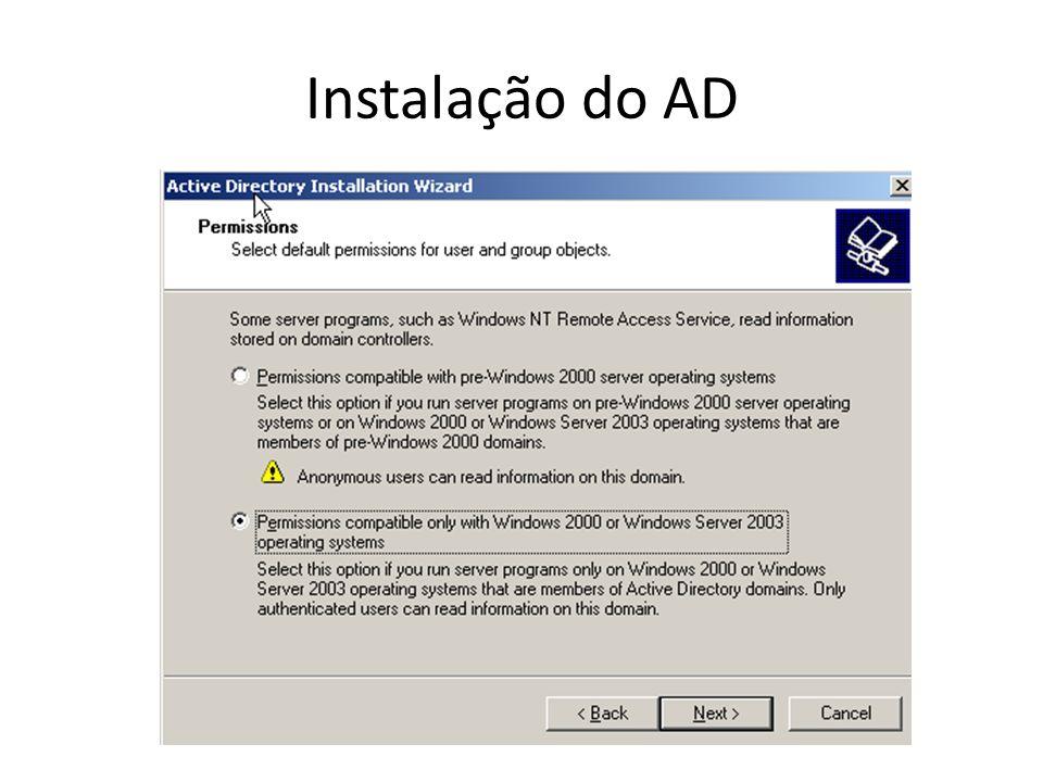 Instalação do AD