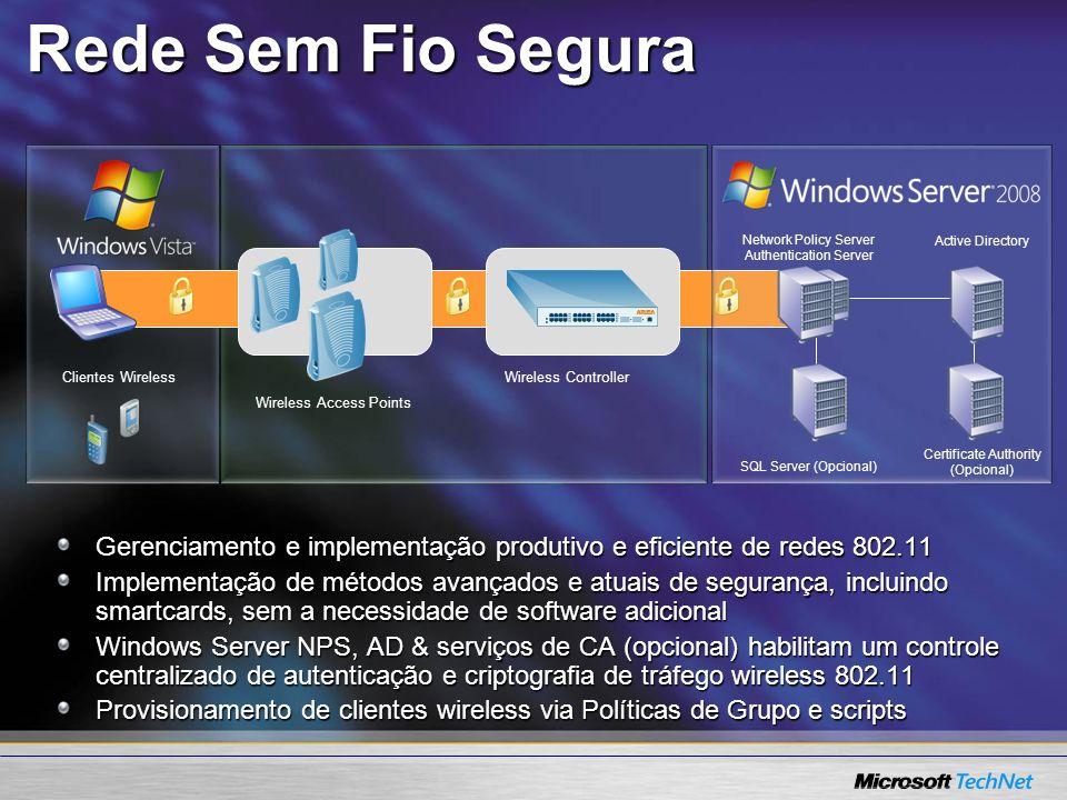 SITO Summit 2005 3/30/2017 5:52 PM. Rede Sem Fio Segura. Network Policy Server. Authentication Server.