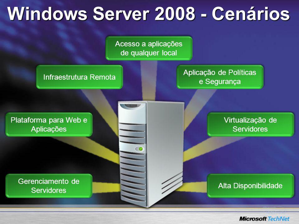 Windows Server 2008 - Cenários