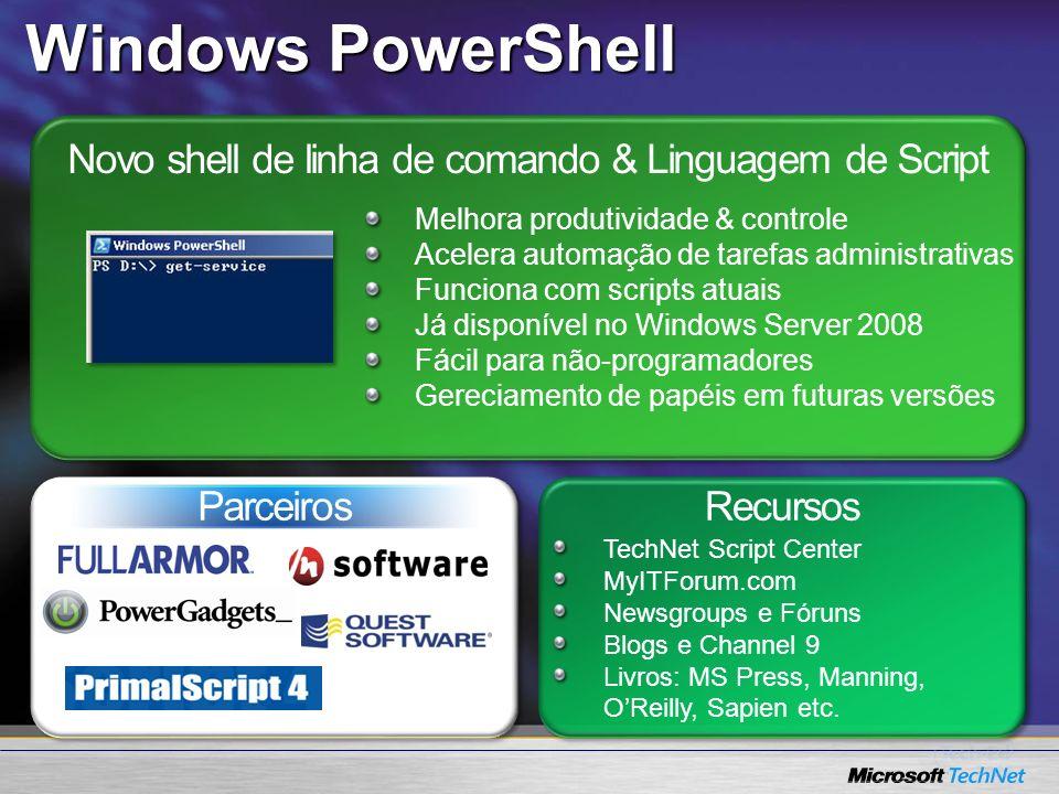 Novo shell de linha de comando & Linguagem de Script