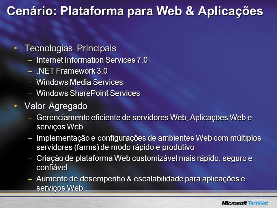 Cenário: Plataforma para Web & Aplicações