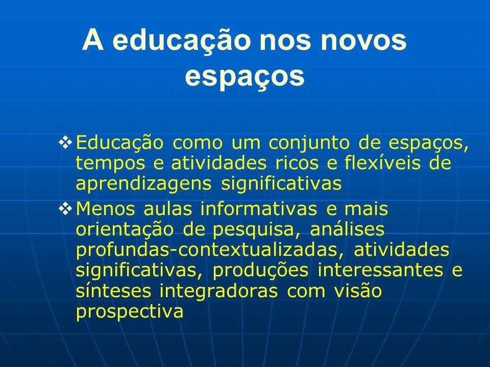 A educação nos novos espaços