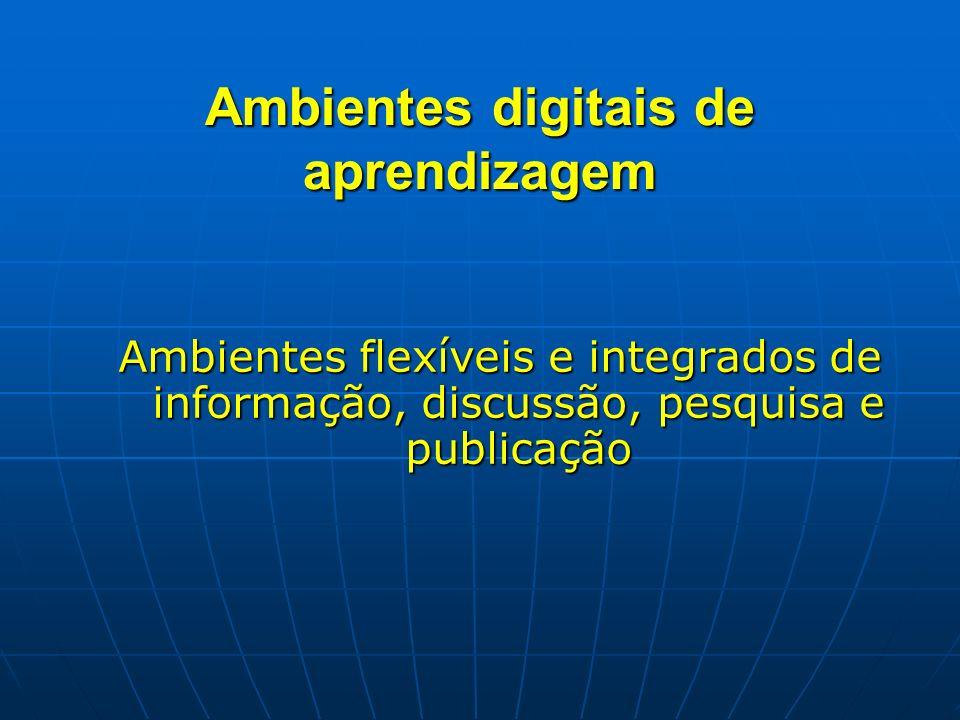Ambientes digitais de aprendizagem