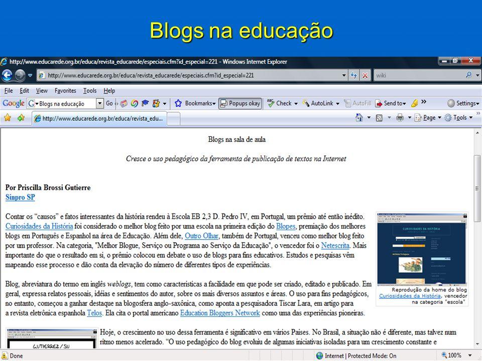Blogs na educação