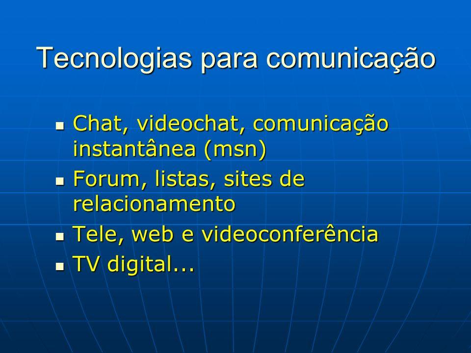 Tecnologias para comunicação