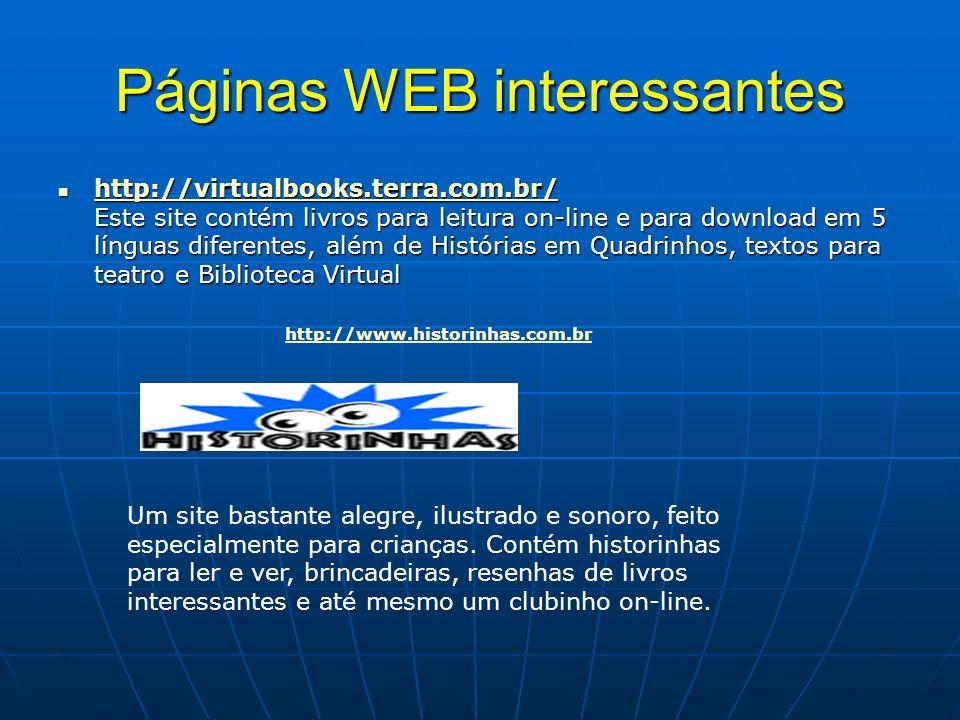 Páginas WEB interessantes