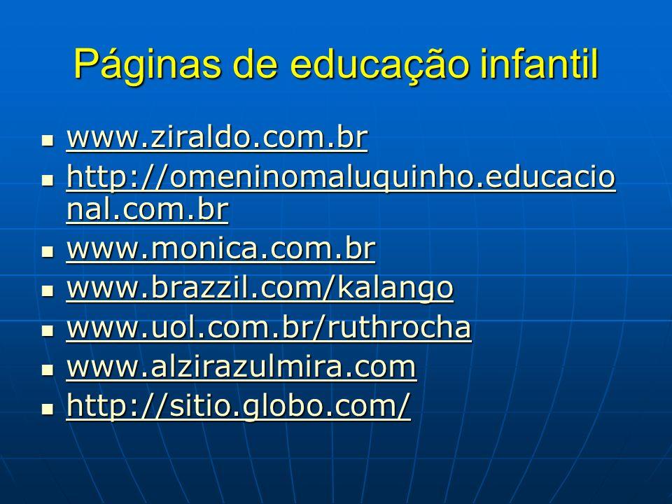 Páginas de educação infantil
