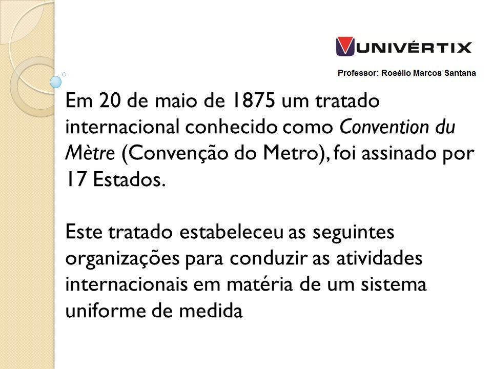 Em 20 de maio de 1875 um tratado internacional conhecido como Convention du Mètre (Convenção do Metro), foi assinado por 17 Estados.