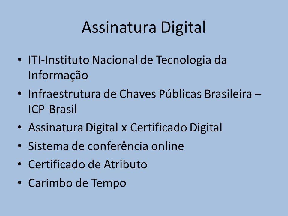 Assinatura Digital ITI-Instituto Nacional de Tecnologia da Informação