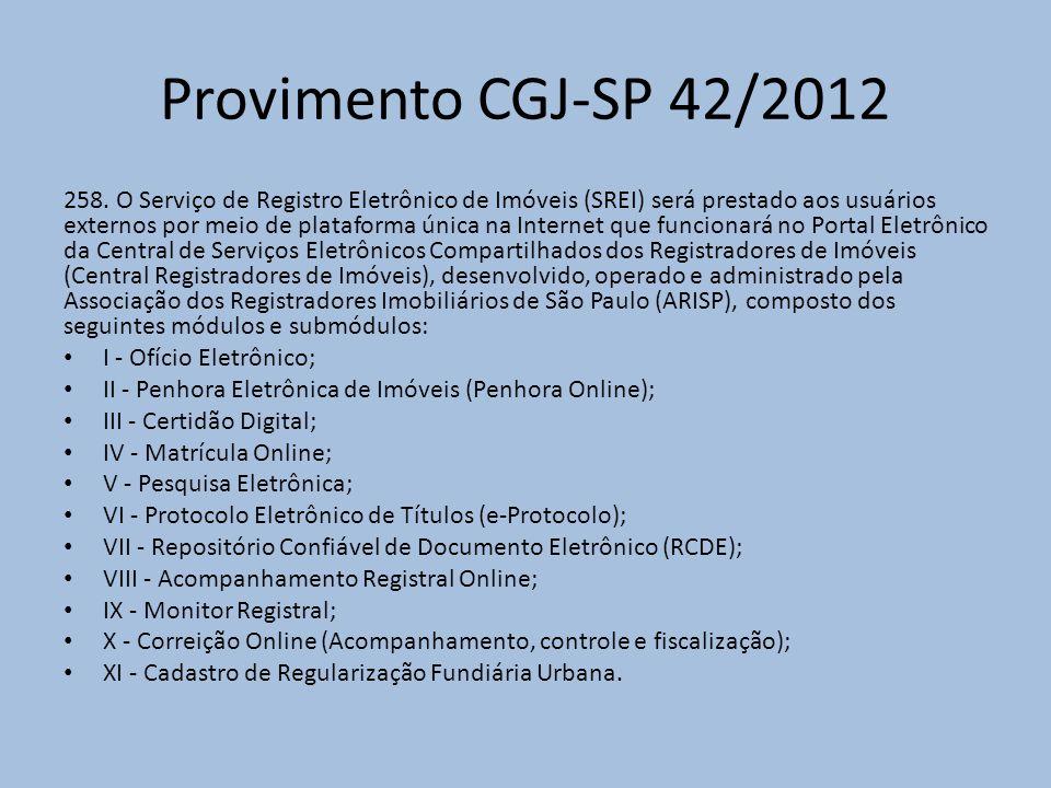 Provimento CGJ-SP 42/2012