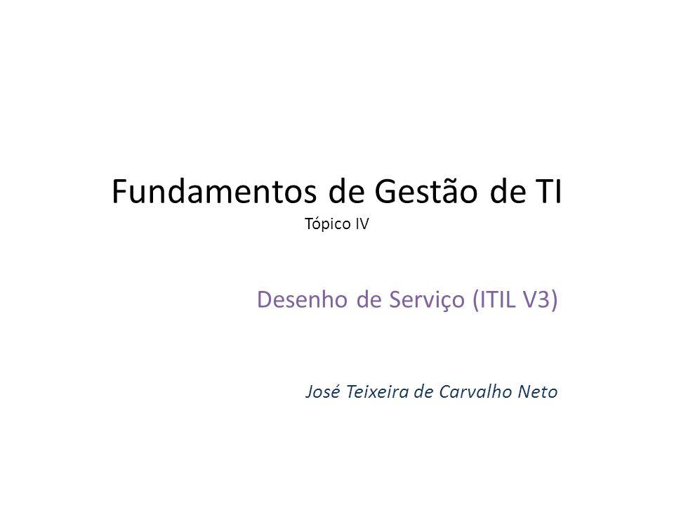 Fundamentos de Gestão de TI Tópico IV