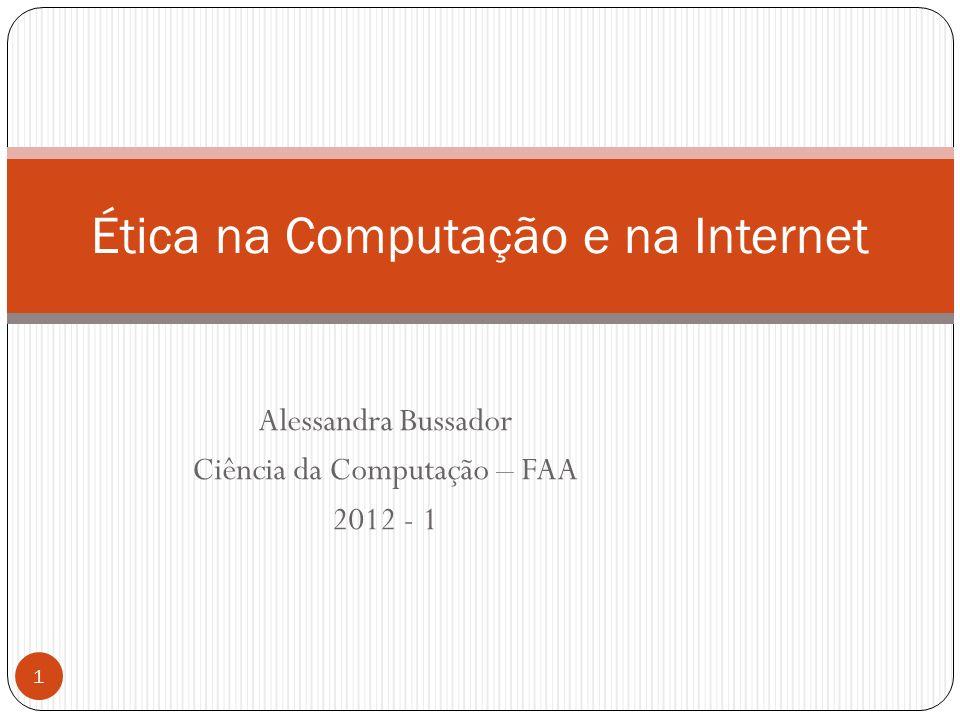 Ética na Computação e na Internet