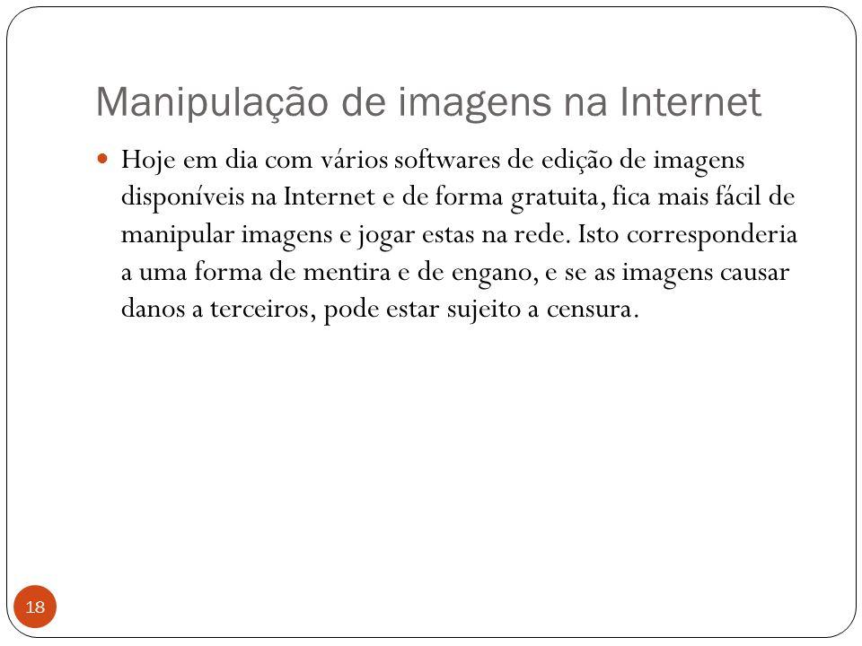 Manipulação de imagens na Internet