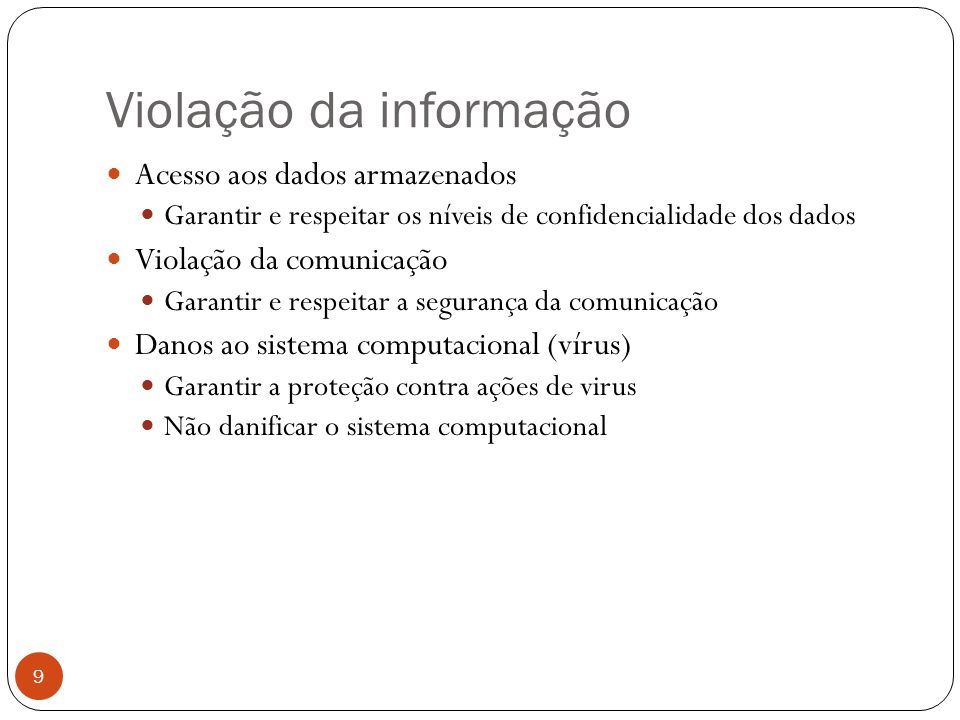 Violação da informação
