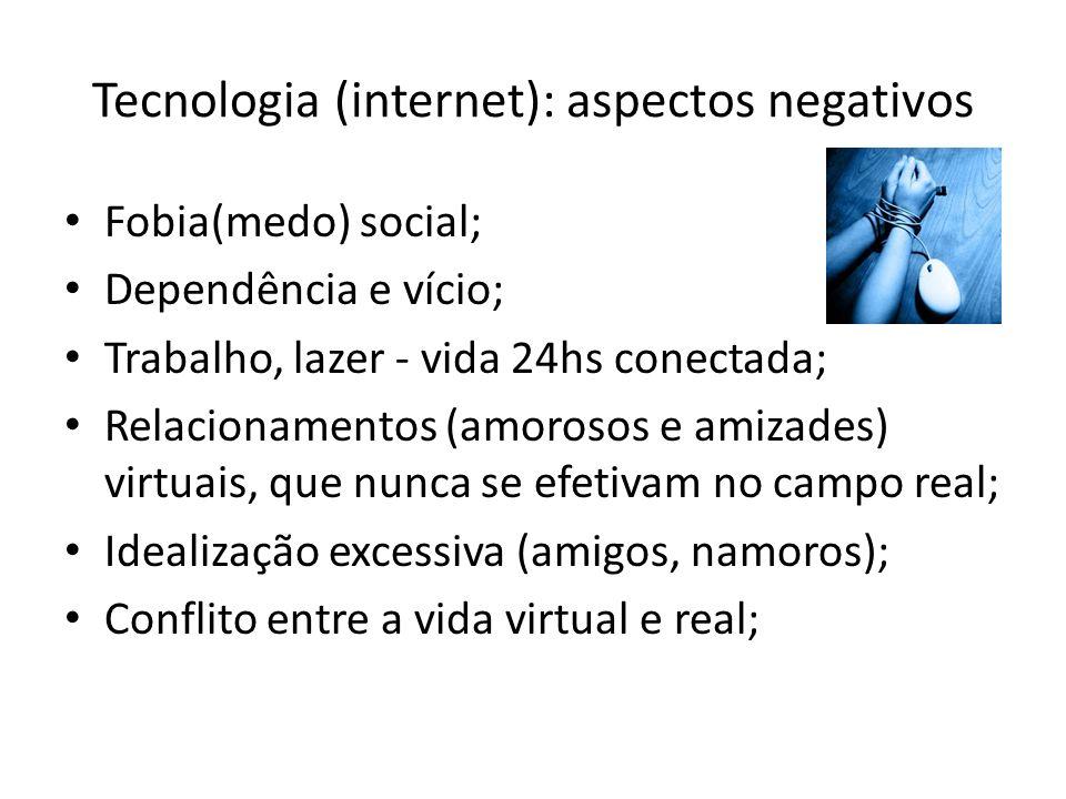 Tecnologia (internet): aspectos negativos