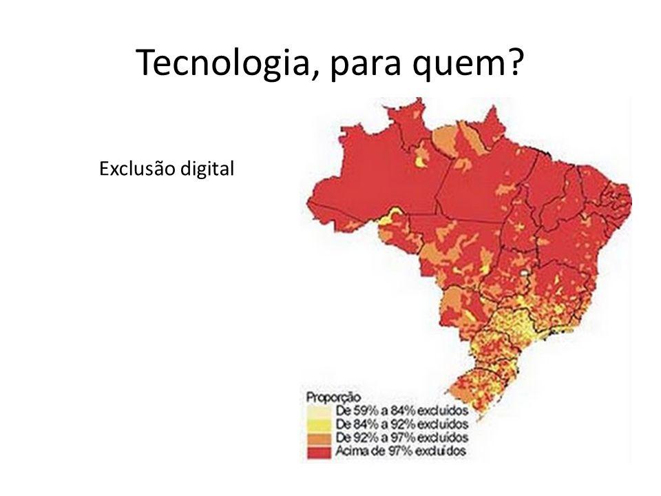 Tecnologia, para quem Exclusão digital