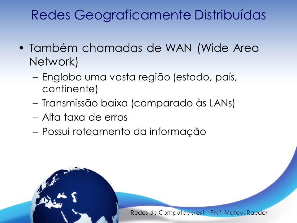 Redes Geograficamente Distribuídas
