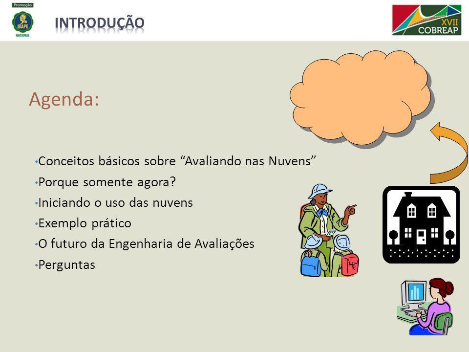 Agenda: Introdução Conceitos básicos sobre Avaliando nas Nuvens