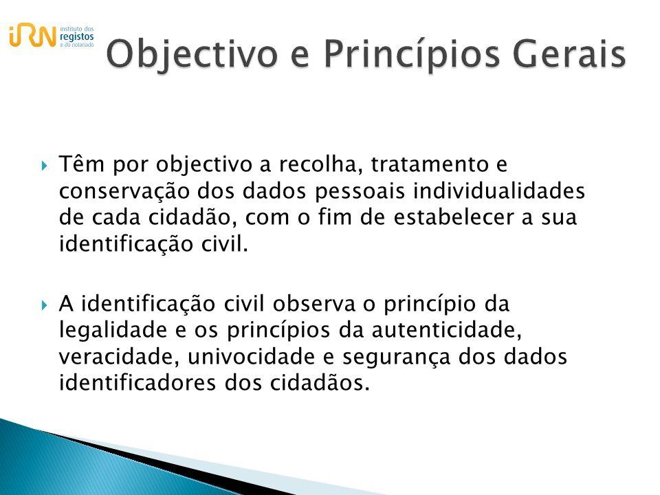 Objectivo e Princípios Gerais