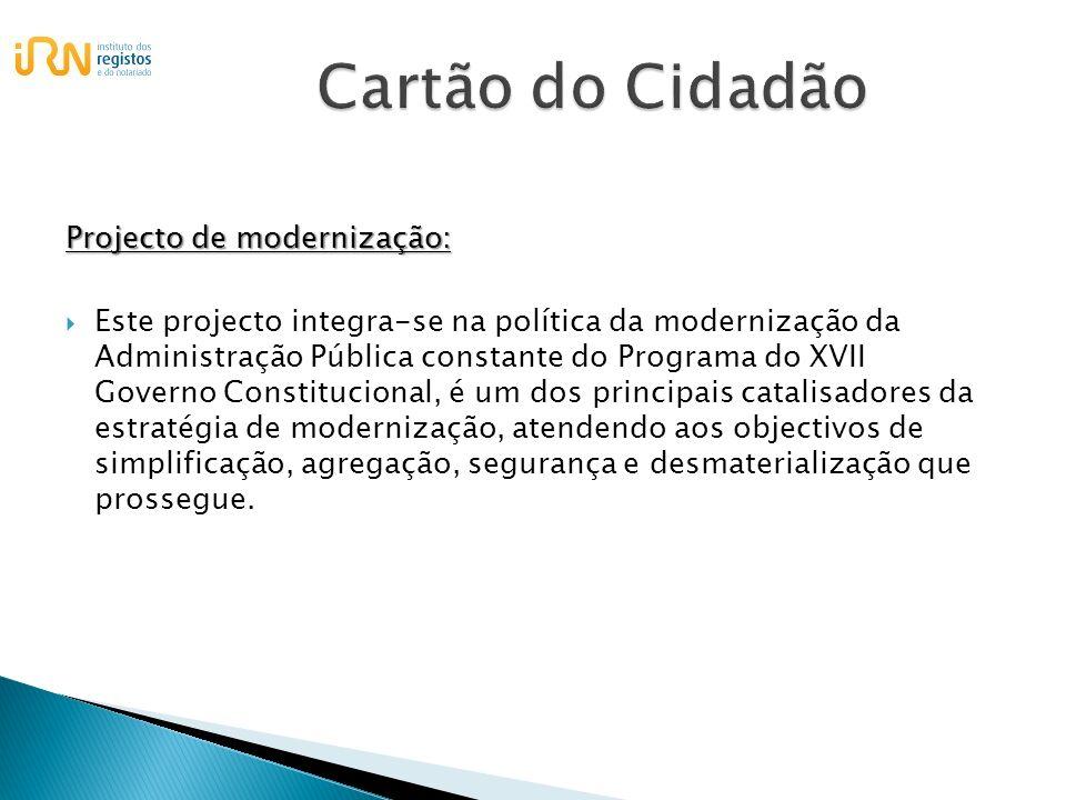 Cartão do Cidadão Projecto de modernização: