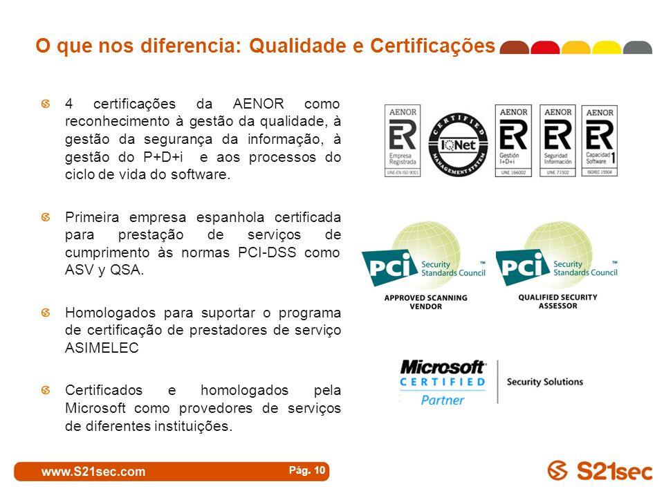 O que nos diferencia: Qualidade e Certificações