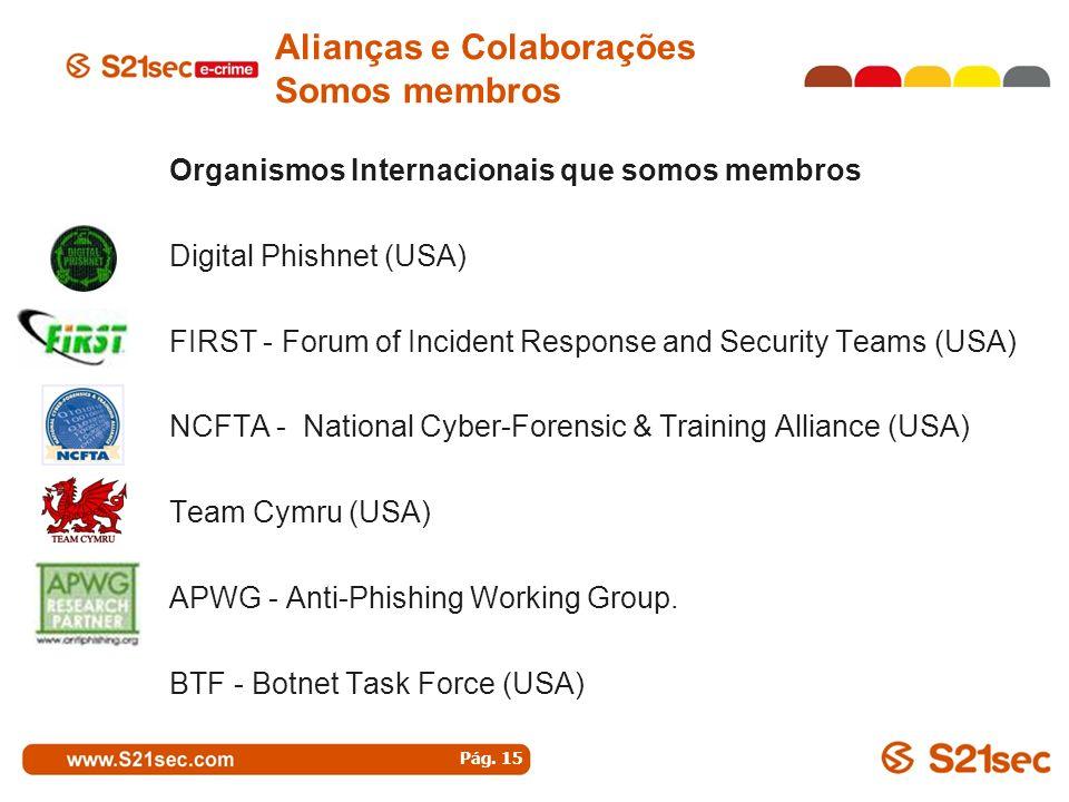 Alianças e Colaborações Somos membros