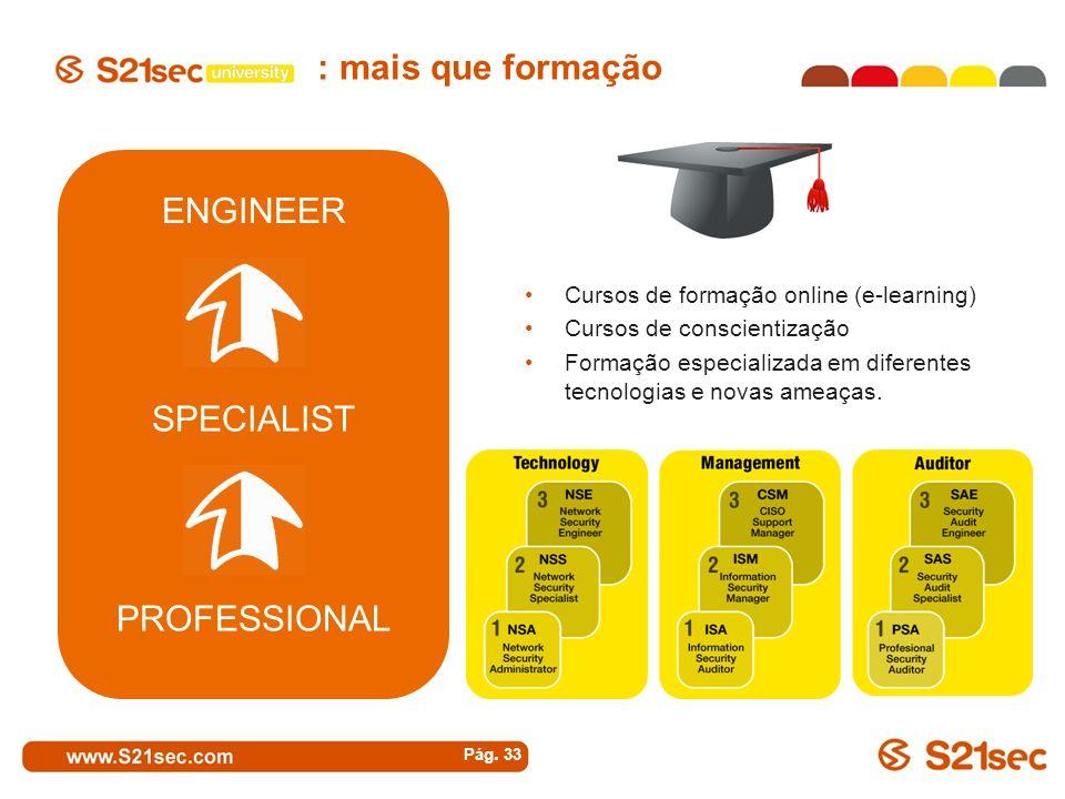 : mais que formação ENGINEER SPECIALIST PROFESSIONAL