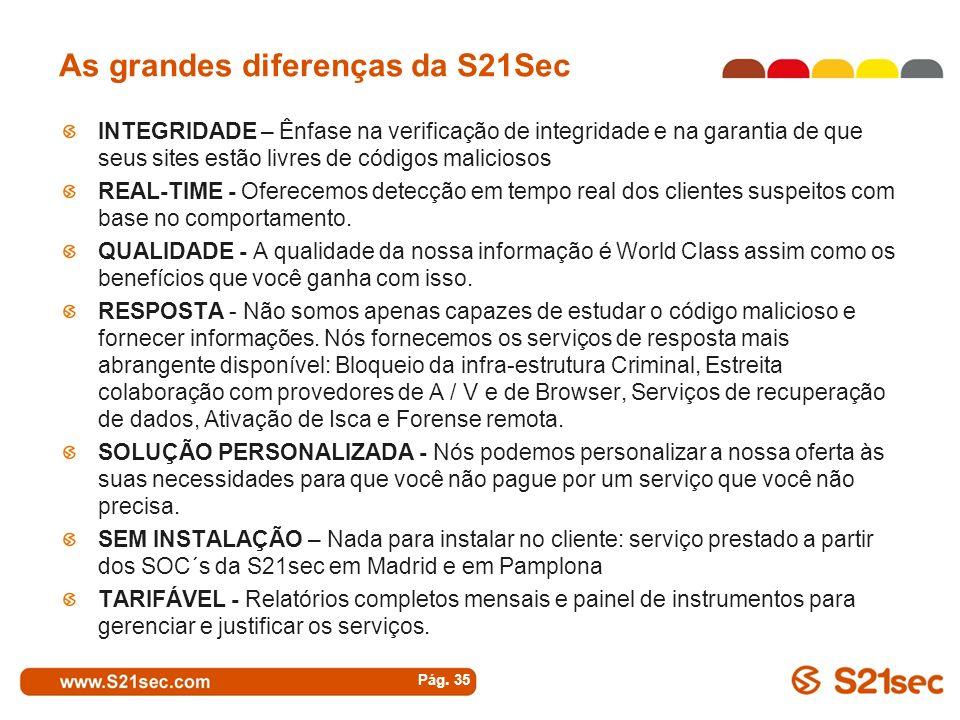 As grandes diferenças da S21Sec