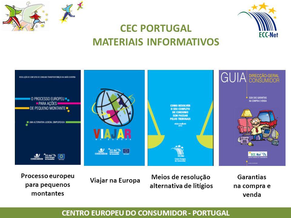 CEC PORTUGAL MATERIAIS INFORMATIVOS