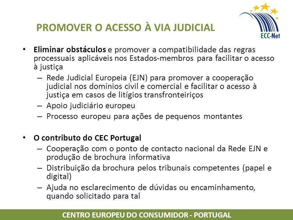 PROMOVER O ACESSO À VIA JUDICIAL