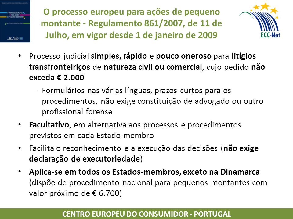 CENTRO EUROPEU DO CONSUMIDOR - PORTUGAL