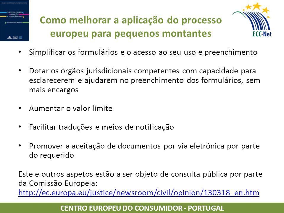 Como melhorar a aplicação do processo europeu para pequenos montantes