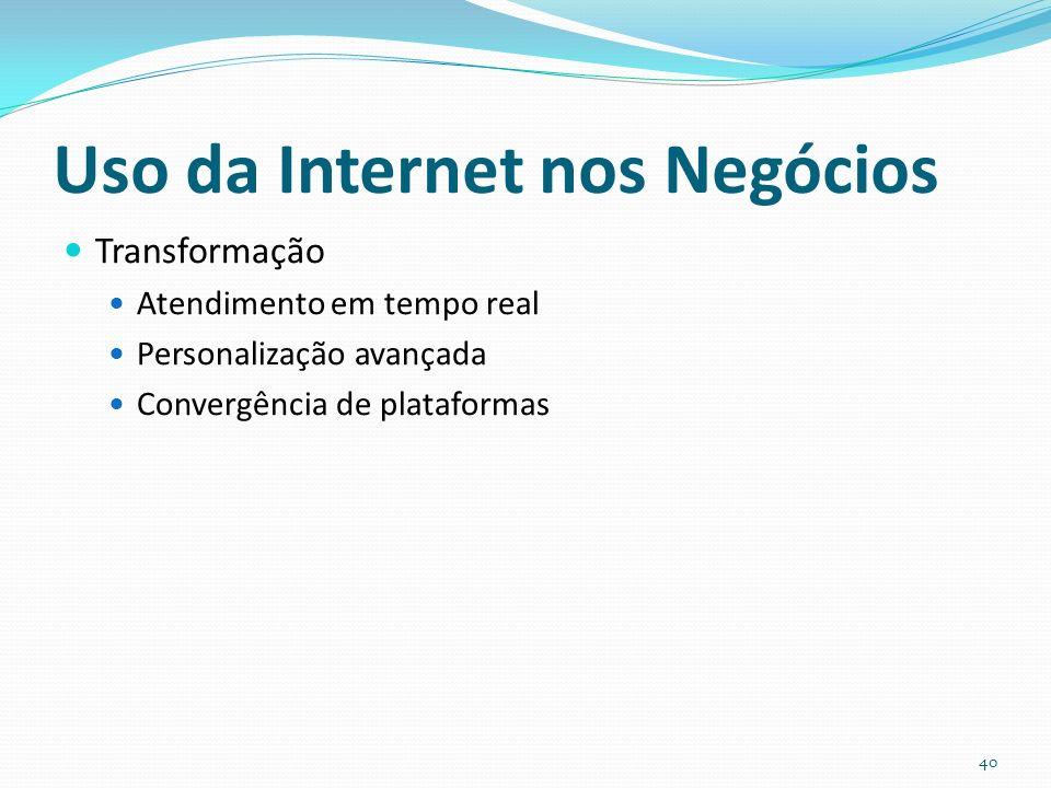 Uso da Internet nos Negócios
