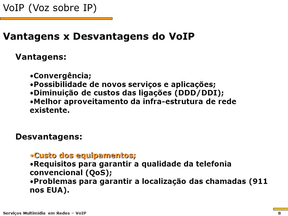 Vantagens x Desvantagens do VoIP