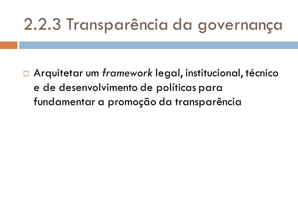 2.2.3 Transparência da governança