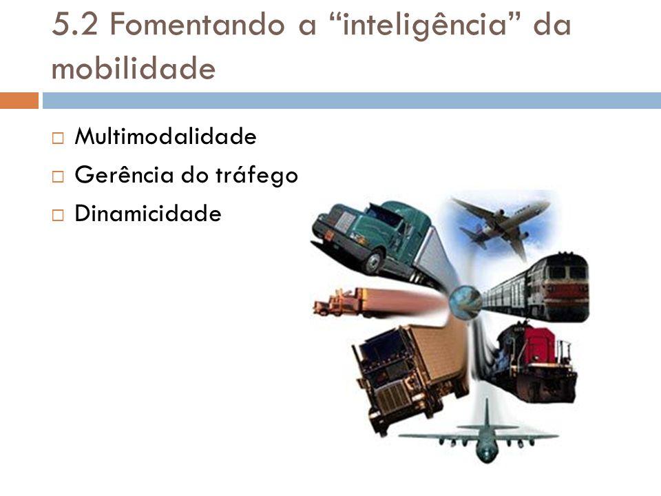 5.2 Fomentando a inteligência da mobilidade
