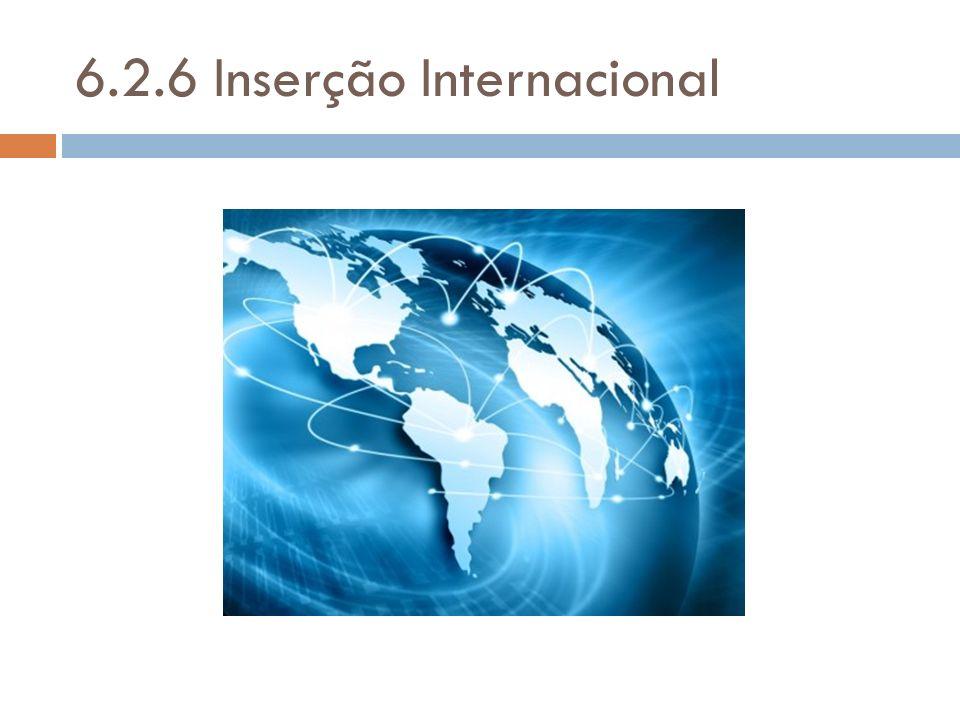 6.2.6 Inserção Internacional