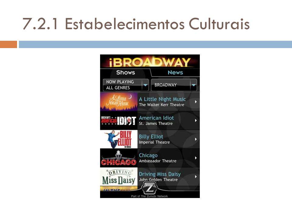 7.2.1 Estabelecimentos Culturais