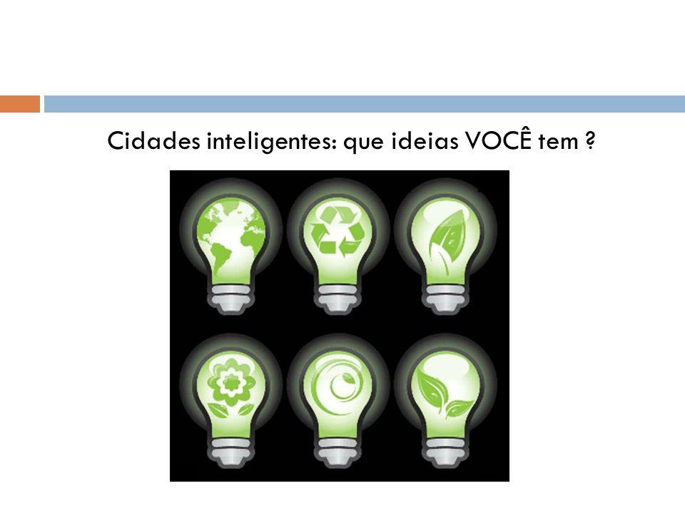 Cidades inteligentes: que ideias VOCÊ tem