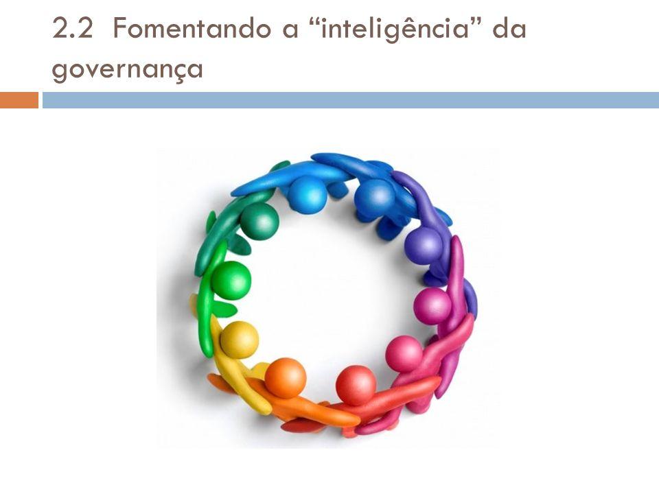2.2 Fomentando a inteligência da governança