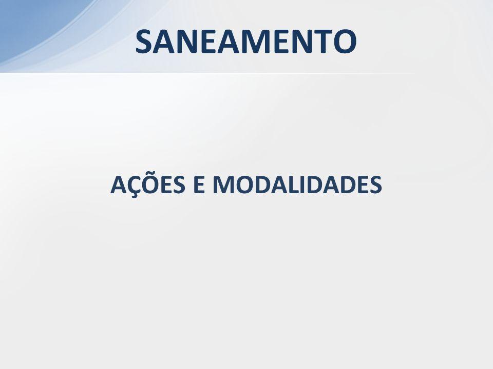 SANEAMENTO AÇÕES E MODALIDADES