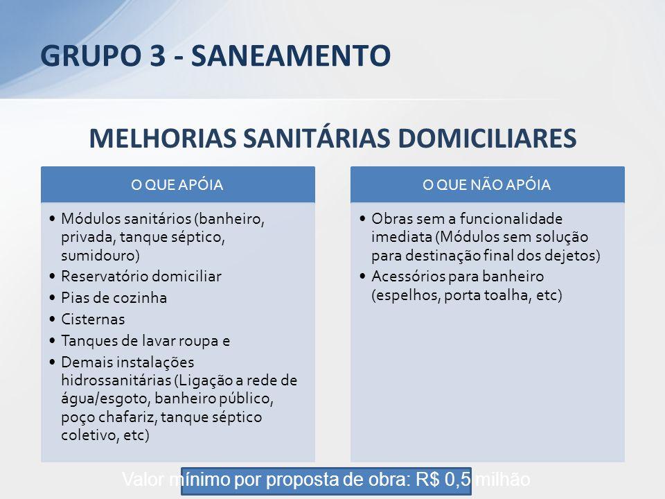 MELHORIAS SANITÁRIAS DOMICILIARES