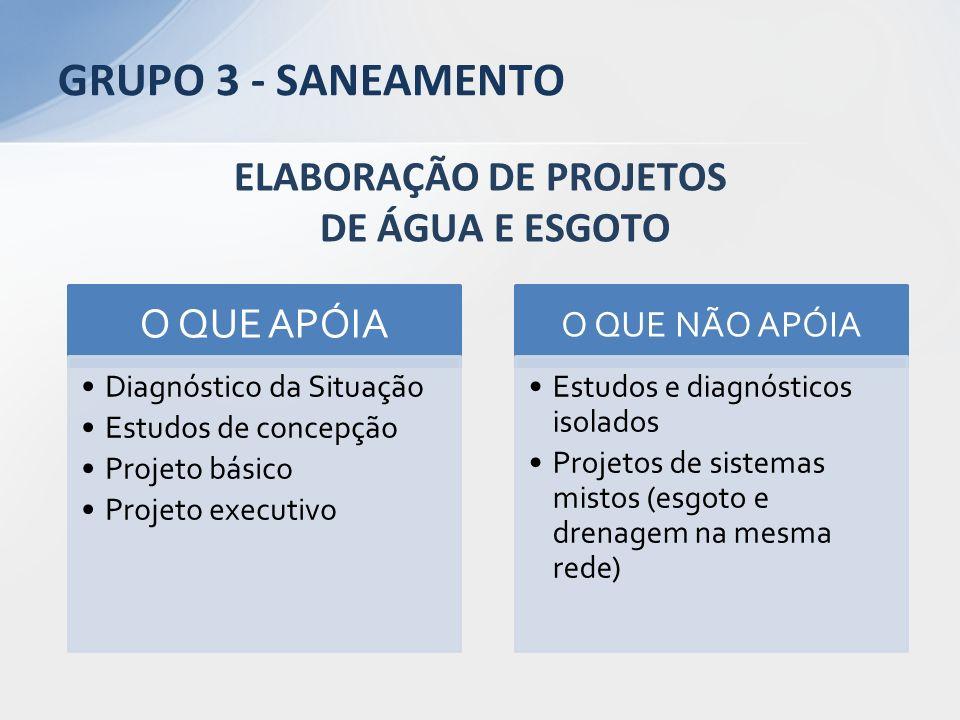 ELABORAÇÃO DE PROJETOS DE ÁGUA E ESGOTO